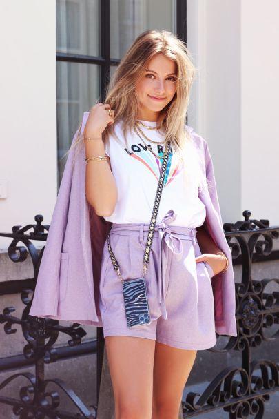 Lilac casual shorts