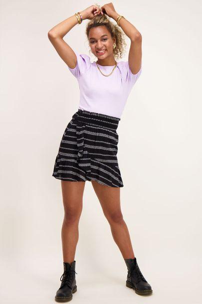 Black bohemian wrap skirt