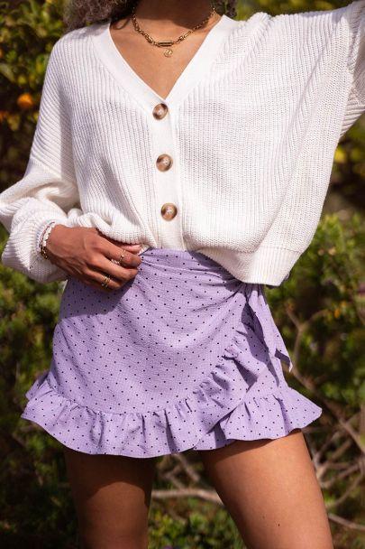 Lilac skort with dot print
