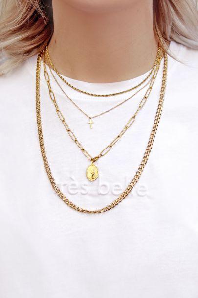 Einzelne geflochtene Halskette