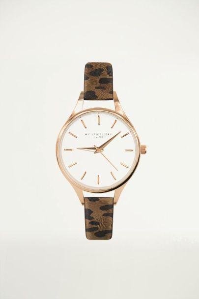 Brown Leopard Watch, Women's watch