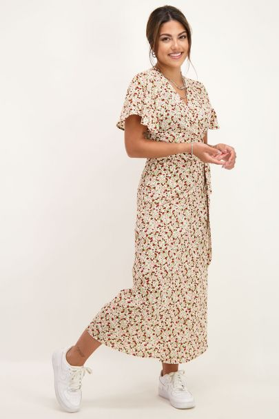 Midi jurk met mini bloemen
