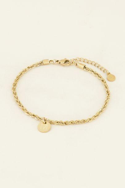 Gold Initial Pendant Bracelet, Initial Bracelet, Initials Bracelet | My Jewellery