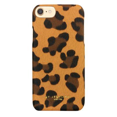 Hardcase Leoparden-Print Braun, Smartphone-Hülle