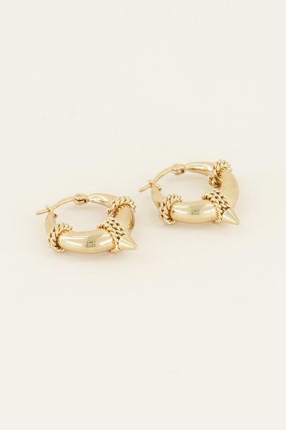 Oorringen ronde schakel | Oorbellen | My Jewellery
