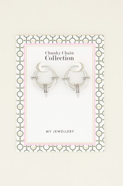 Round chain earrings | Earrings | My Jewellery