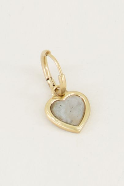 Einteiliger Ohrring mit Labradorit| Ohrringe mit Edelstein| My Jewellery