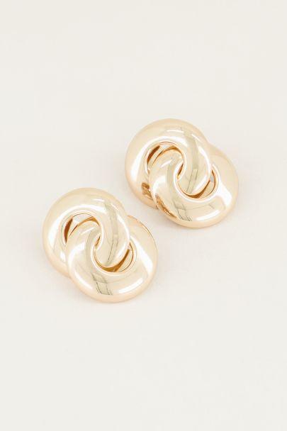 Oorhangers dubbele cirkels, statement oorbellen My Jewellery