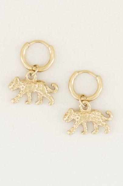 Oorringen luipaard, minimalistische oorbellen My Jewellery