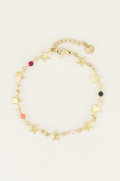 Armband met sterretjes en kralen
