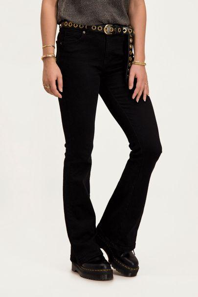 Zwarte flared jeans