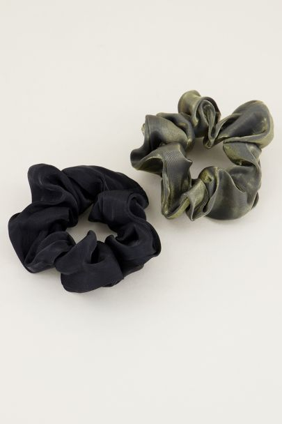Goude scrunchie set metalic | Scrunchie set bij My Jewellery