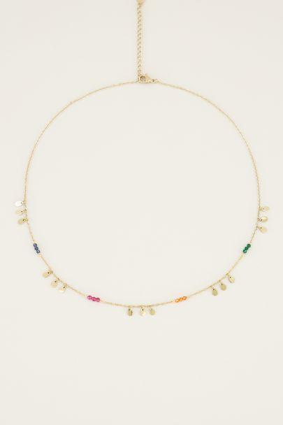 Ketting druppels kleurtjes | Korte ketting bij My Jewellery
