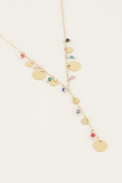 Ketting y-vorm kralen & muntjes | lange ketting My Jewellery