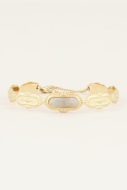 Bangle grijze steen| Bangles | Bangle armband  My Jewellery