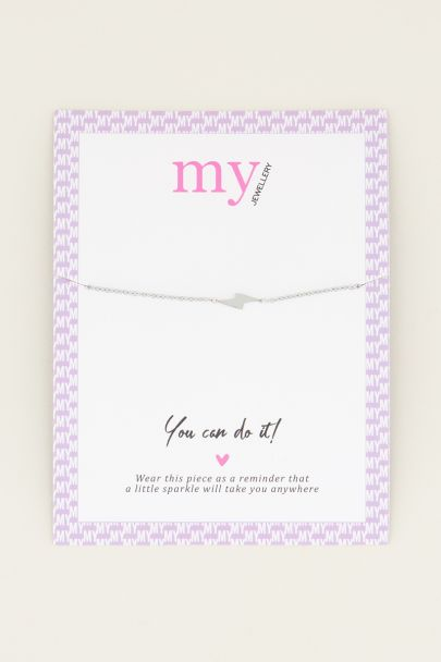 Armband bliksem | Minimalistische armband My Jewellery