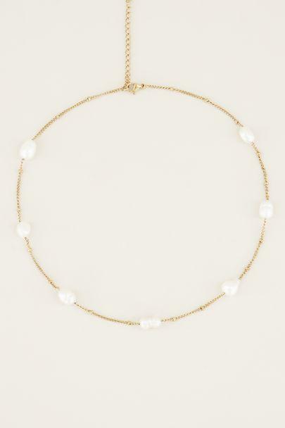 Halskette Perlen | Perlenhalskette | Edelstahl My Jewellery