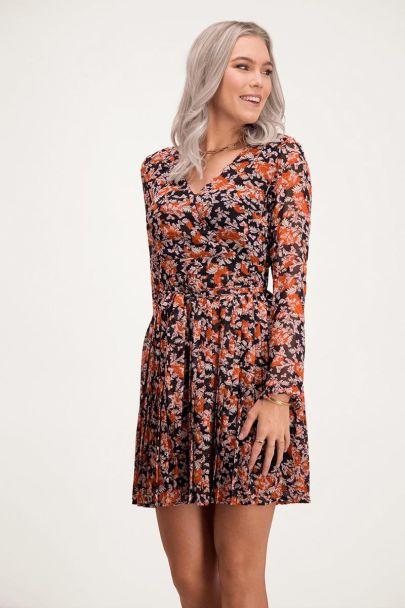 Dress orange paisley & leaves