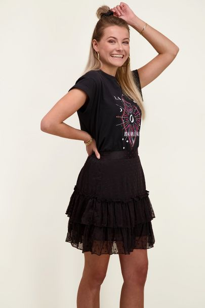 Zwart shirt bohemian