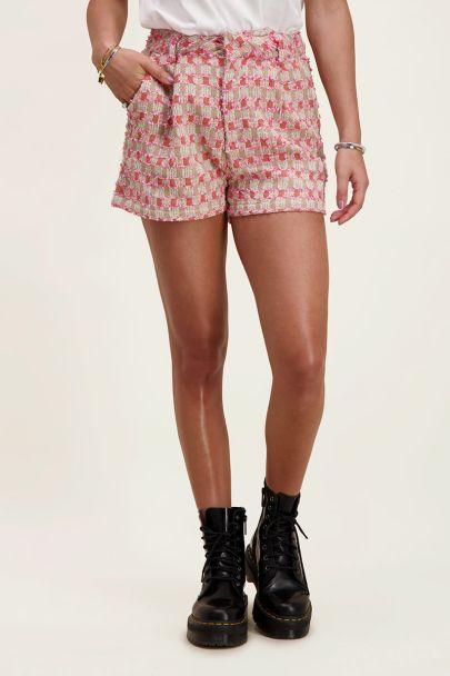 Boucle shorts checkered