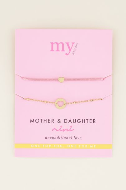 Moeder & dochter armband mini | MY Jewellery