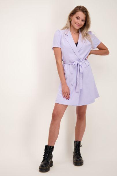 Lila blazer jurk