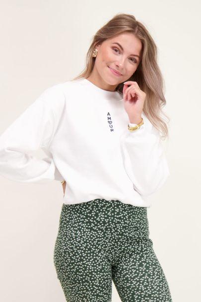 Weißer Pullover Amour