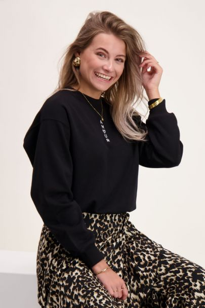 Zwarte sweater amour