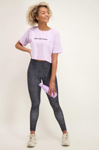 Lilac crop bisou T-Shirt