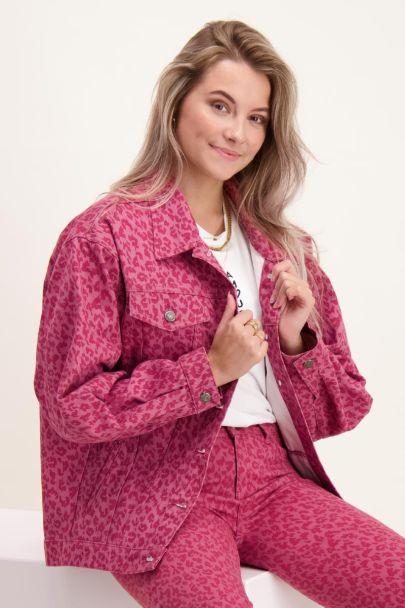 Roze jasje met panterprint