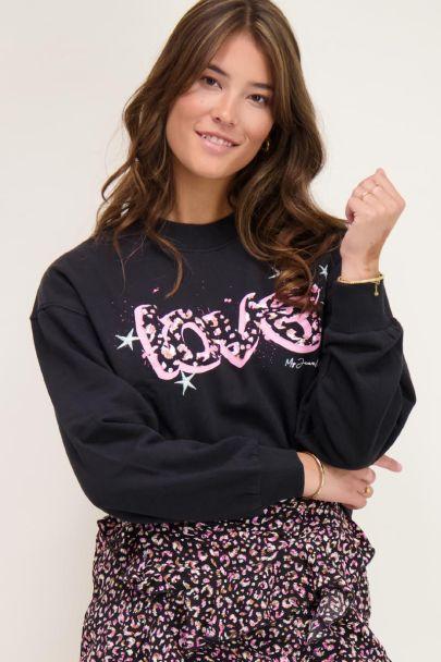 Zwarte sweater love