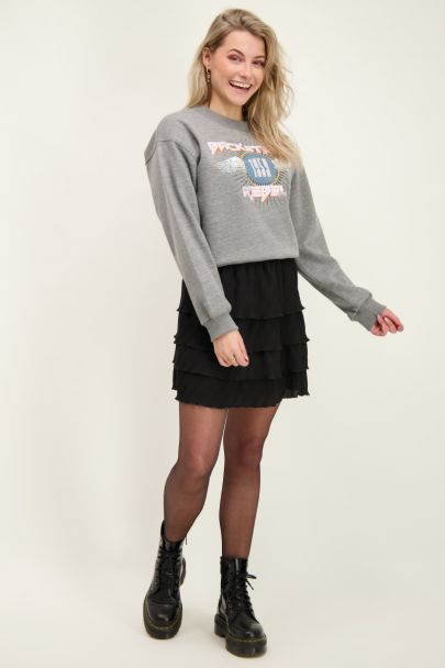 Grey backstage rebel sweater