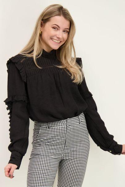 Zwarte blouse met details