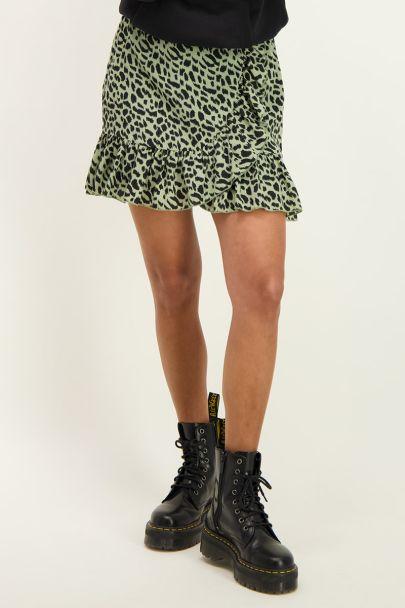 Groene rok met cheetah