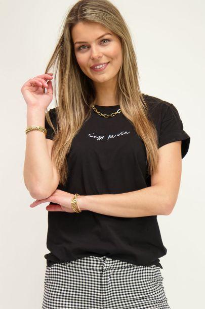 Zwart shirt C'est La Vie