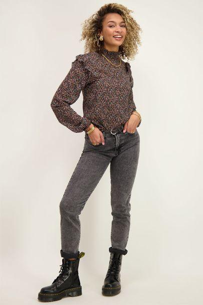 Bloemenprint blouse met ruffle