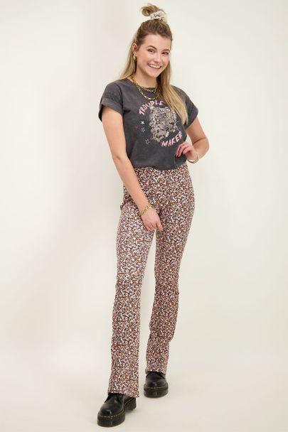 Multikleur flared pants