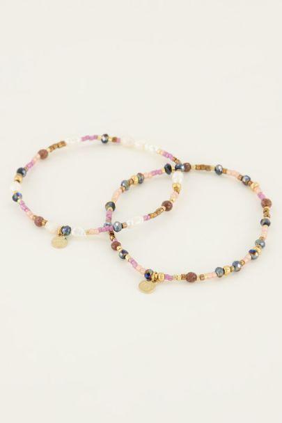 Mehrfarbiges Perlenarmband-Set