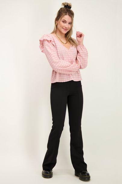 Zwarte flared legging