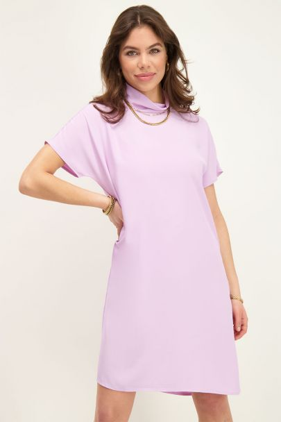 Lila jurk met colletje