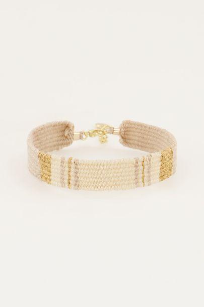 Golden/beige bohemian bracelet
