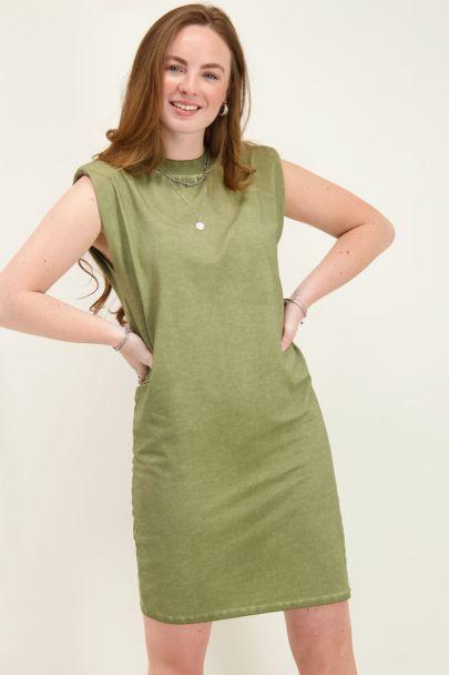 Groene T-shirt jurk