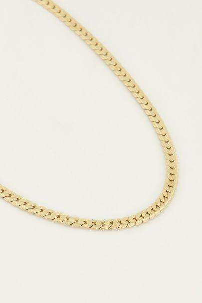 Flache Halskette