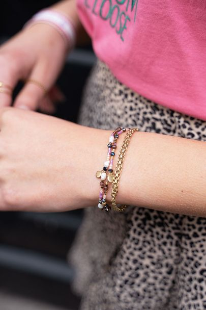 Mehrfarbiges Armband-Set mit Perlen