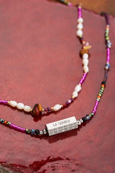 Multikleur ketting met verschillende kralen