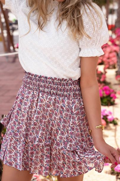 Multicolor skirt with bohemian print