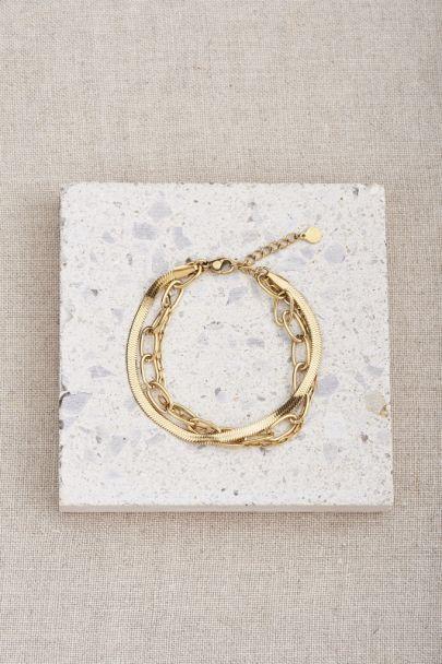 Bracelet three-layer links