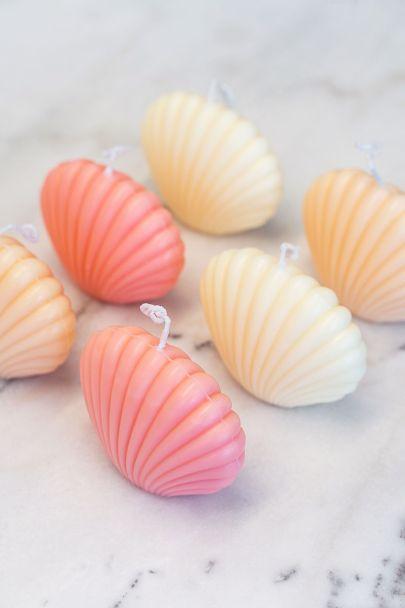 Roze kaars schelpje