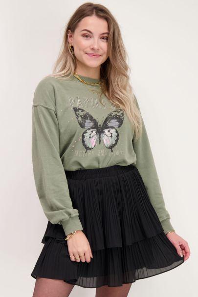 Green butterfly sweater