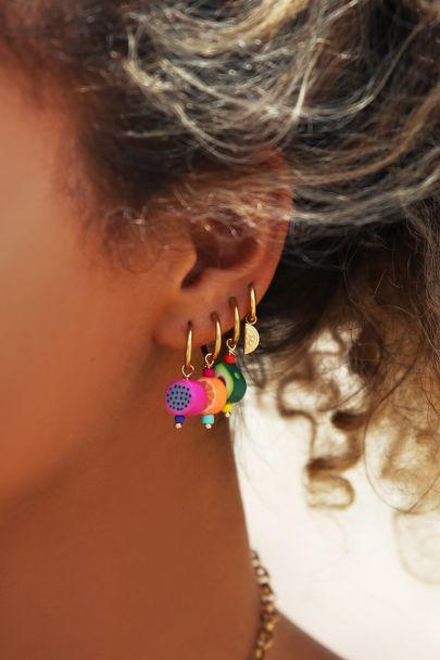 One piece avocado earring